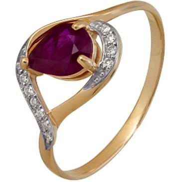 кольцо c рубином из красного золота 1920202213
