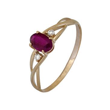 кольцо c рубином из красного золота 1920002343