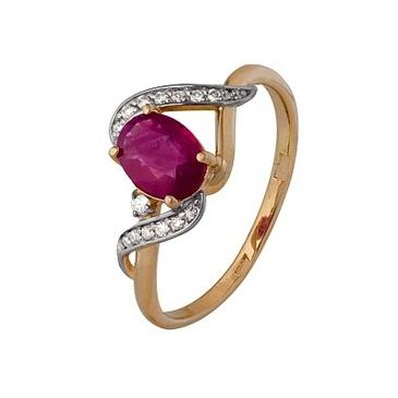 кольцо c рубином из красного золота 1920202499