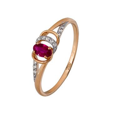 кольцо c рубином из красного золота 1920202641