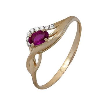 кольцо c рубином из красного золота 1920202345
