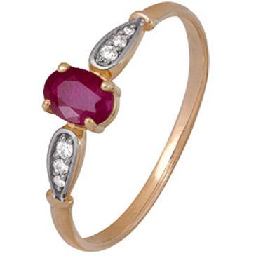 кольцо c рубином из красного золота 1920202482