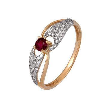 кольцо c рубином из красного золота 1920202424