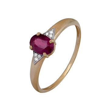 кольцо c рубином из красного золота 1920202488