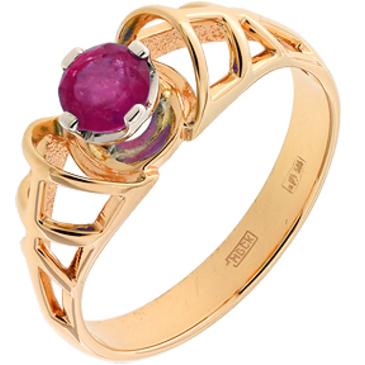 кольцо c рубином из красного золота 12207502