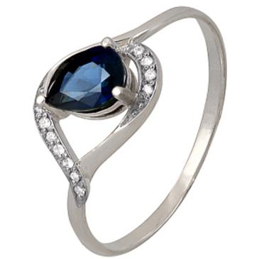 кольцо c сапфиром из красного золота 1850202213 от EVORA