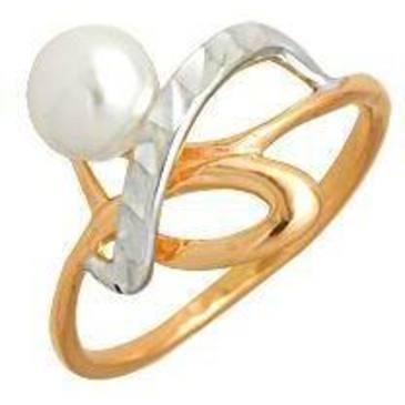 кольцо c жемчугом из красного золота 1241100881