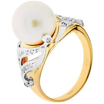 кольцо c жемчугом из красного золота 12633184