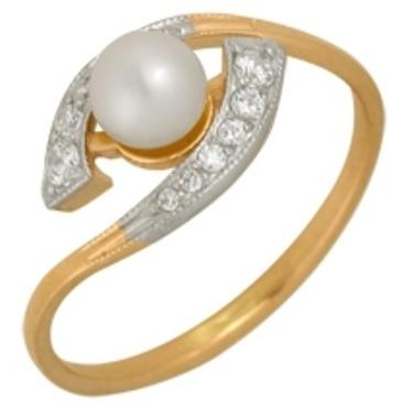кольцо c жемчугом из красного золота 1880201261