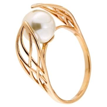 кольцо c жемчугом из красного золота 11603255