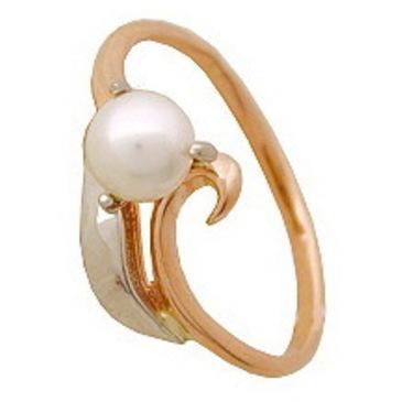 кольцо c жемчугом из красного золота 1246200024