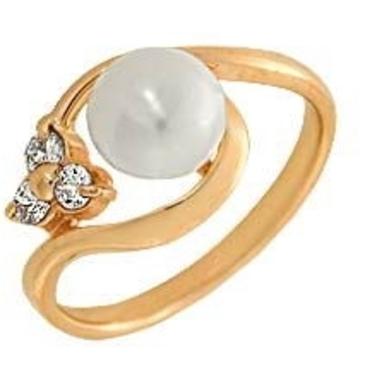 кольцо c жемчугом из красного золота 1880000696