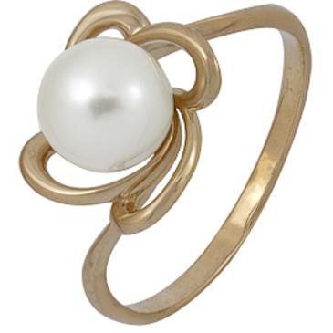 кольцо c жемчугом из красного золота 1240002191