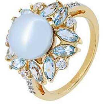 кольцо c жемчугом из красного золота 11B67102