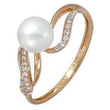 кольцо c жемчугом из красного золота 11624368