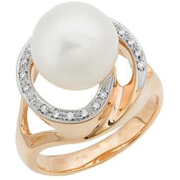 кольцо c жемчугом из красного золота 11633158