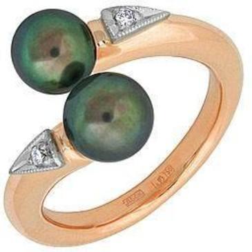 кольцо c жемчугом из красного золота 12631995