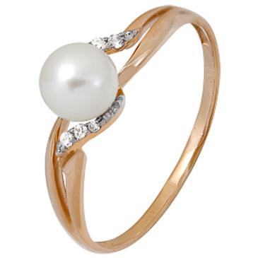 кольцо c жемчугом из красного золота 1880202313