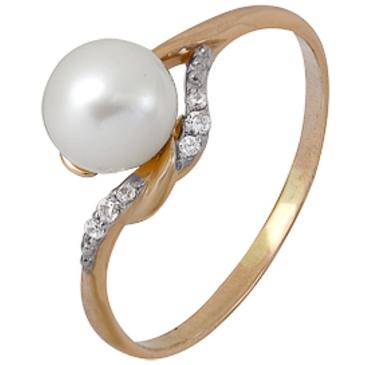 кольцо c жемчугом из красного золота 1880202316