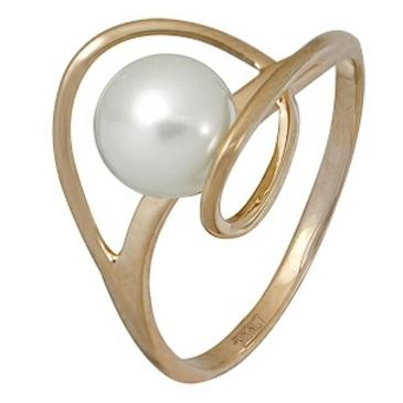кольцо c жемчугом из красного золота 11604404