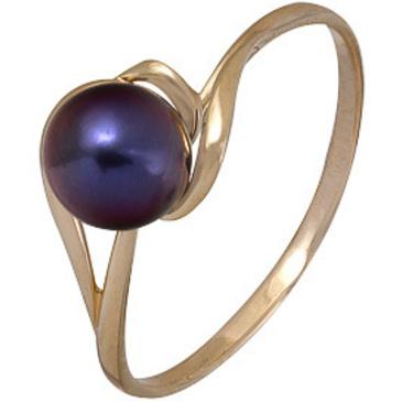 кольцо c жемчугом из красного золота 1240002410-1