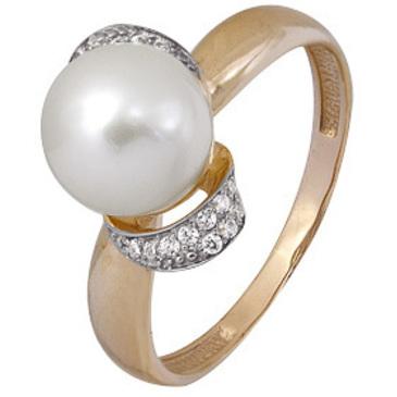 кольцо c жемчугом из красного золота 1880202091