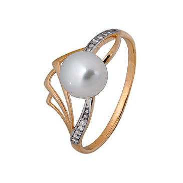 кольцо c жемчугом из красного золота 1880202712