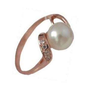 кольцо c жемчугом из красного золота 12900010/11