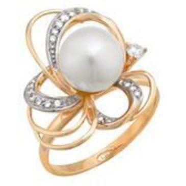 кольцо c жемчугом из красного золота 11623305
