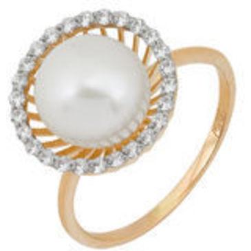кольцо c жемчугом из красного золота 11623325