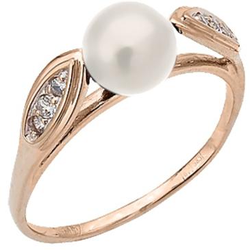 кольцо c жемчугом из красного золота 11627190