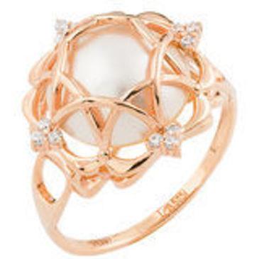 кольцо c жемчугом из красного золота 11627480