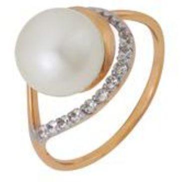 кольцо c жемчугом из красного золота 1880201217