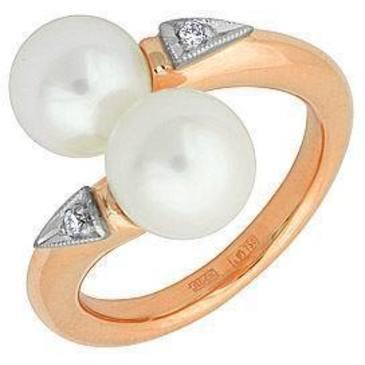 кольцо c жемчугом из красного золота 11631995