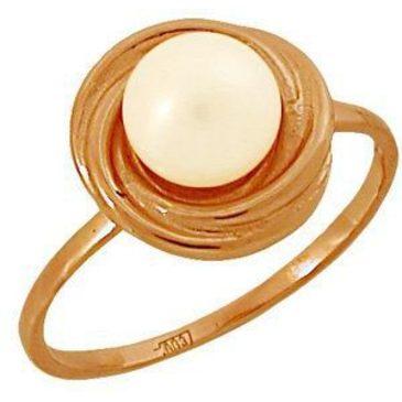 кольцо с жемчугом из красного золота 1160760