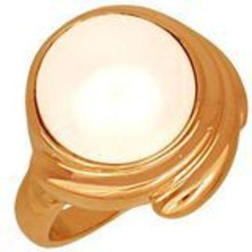 кольцо с жемчугом из красного золота 1160819