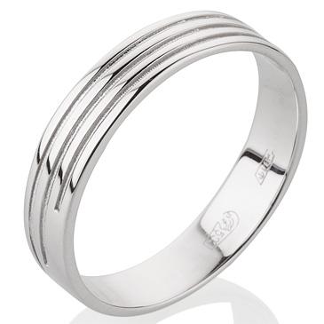 кольцо обручальное 4 мм из палладия 10007607