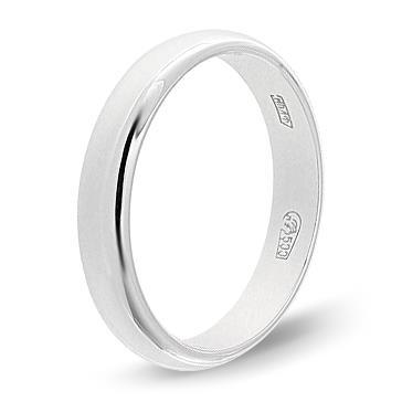 кольцо обручальное 4 мм из палладия 10002869