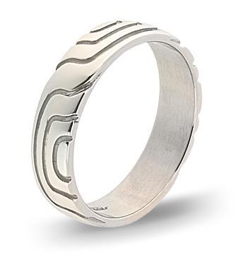 кольцо обручальное с орнаментом 4 мм из палладия 10007608