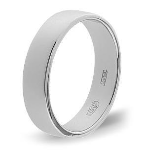 кольцо плоское обручальное шириной 5 мм из палладия 10003793