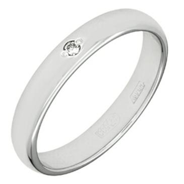 кольцо c бриллиантом из палладия 10032848