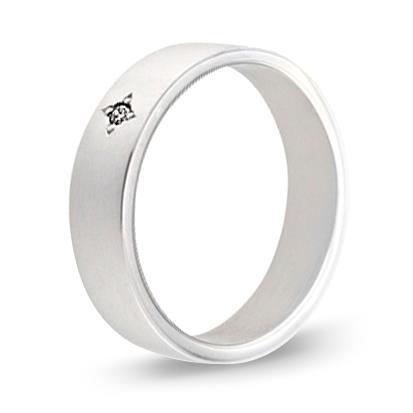 кольцо обручальное c бриллиантом из палладия 10033793-1