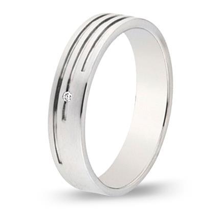 кольцо обручальное c бриллиантом из палладия 10037607