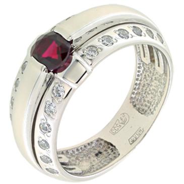 кольцо c корундом из палладия 10393231