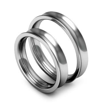 Классическое обручальное кольцо шириной 4 мм из платины W84Pt