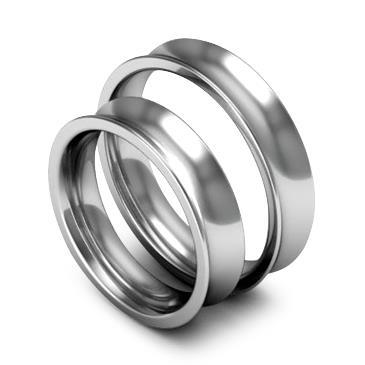 Классическое обручальное кольцо шириной 5 мм из платины W85Pt