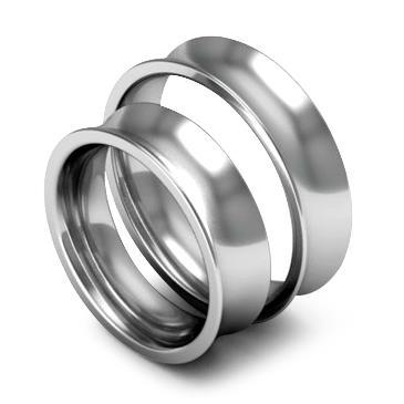 Классическое обручальное кольцо шириной 6 мм из платины W86Pt