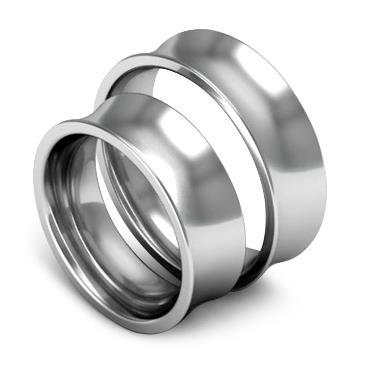 Классическое обручальное кольцо шириной 7 мм из платины W87Pt