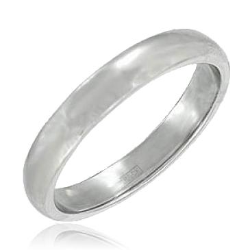 кольцо обручальное из платины 15002848