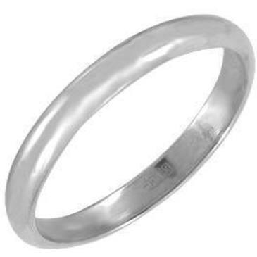 кольцо обручальное из платины 15002868